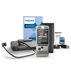 Diktiergerät und Fußschalter Philips Starterkit DPM6700