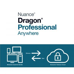 Spracherkennung Dragon Anywhere Professional zur Miete